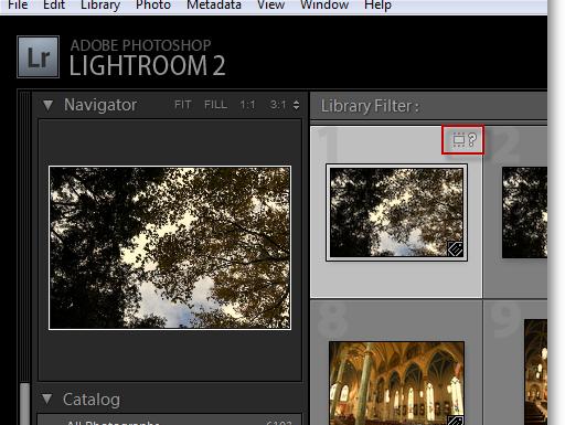 Потерянные файлы и папки в Lightroom.