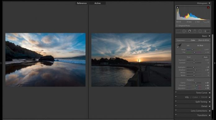 Обновление Lightroom позволяет сравнивать изображения при обработке